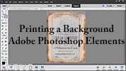 Print a Digital Background Using Adobe Photoshop Elements
