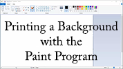 Print a Digital Background with the Paint Program